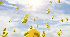 Euro rise sky Stock Footage