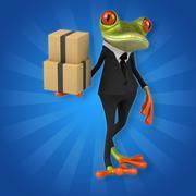 Fun frog Stock Illustration