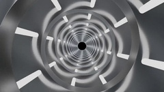 Futuristic rotating tunnel with helix structure. (loop ready file with mask) Stock Footage