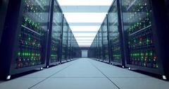 Servers racks.  Modern datacenter. Cloud computing. 4k UHD Stock Footage