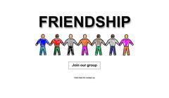 Friendship concept on white background Stock Illustration