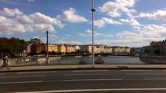 Bridge In The City Of Lyon Stock Footage