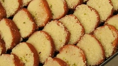 Indian sweets Mithai Stock Footage