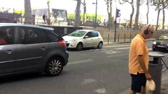 Road In The City Of Lyon Stock Footage