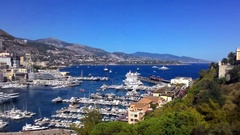 The View From The Observation Deck On The City Of Monaco Stock Footage