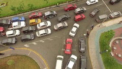 Aerial of congestion in Lima, Peru, South America Stock Footage