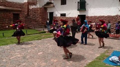 Procession in Peru in Andes (South America) Stock Footage