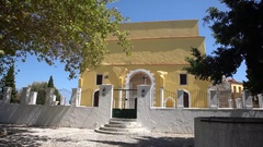 Church in the old city of Rhodes, Greece Stock Footage