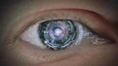 Eye of cyborg. Arkistovideo