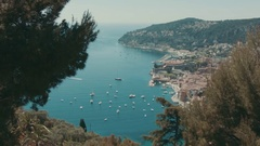 Panoramic view of Cannes, France Stock Footage