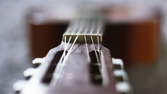 Guitar acoustic music instrument. Stock Footage