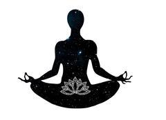 Yoga posture meditation Stock Illustration