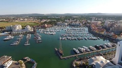 Shooting from the sky Port Marina Vilamoura Stock Footage