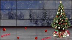 Christmas TV Studio Set 14 - Virtual Green Screen Background Loop Stock Footage