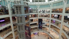 Timelapse of Suria KLCC shopping mall with customers Stock Footage