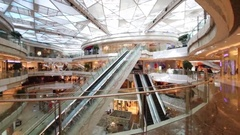 Modern IFC mall, In Shanghai there is large free-trade zone Stock Footage