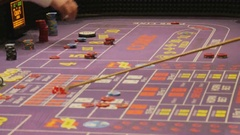 Gambling at craps table in Las Vegas, USA Stock Footage