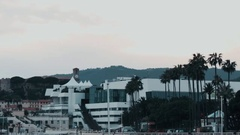 Cannes Film Palace Stock Footage