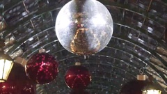 Christmas Disco Ball and Pendants Decoration in London Stock Footage
