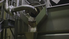 Machine at food processing factory Stock Footage