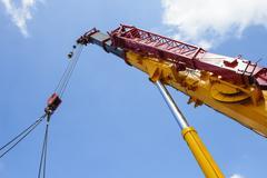 Heavy hydraulic crane Stock Photos
