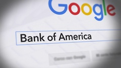 Google Search Engine - Search For Bank of America Stock Footage