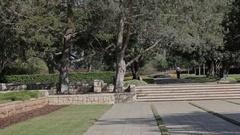Park of Rothschild. Ramat Hanadiv. Memorial Gardens and Nature Park Stock Footage