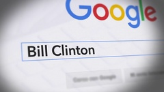 Google Search Engine - Search For Bill Clinton Stock Footage