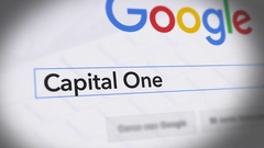 Google Search Engine - Search For Capital One Stock Footage