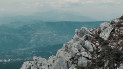 Rocky mountains with panoramic view Stock Footage