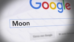 Google Search Engine - Search For Moon Stock Footage