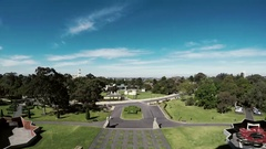 Top view gardens with people time lapse Stock Footage