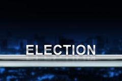 Election on metal railing Stock Illustration