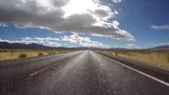 Nevada Desert Highway Driving Car Mount Stock Footage