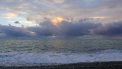 4K. Timelapse sunset on the Black sea. Pitsunda, Abkhazia. Ultra HD, 4096x2304 Stock Footage