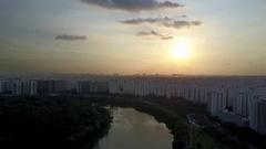 Singapore Sun Set Heartlands Stock Footage