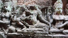 Ancient Khmer temple in Siem Reap, Cambodia Stock Footage