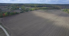 Camera flies over a field on the Steppe of Western Ukraine Stock Footage