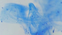 Blue Ink Drops in Water Stock Footage