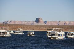 Lake Powell in Glen Canyon National Recreation Area Stock Photos