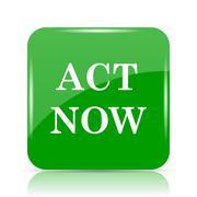 Act now icon. Internet button on white background.. Stock Illustration