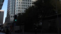 Panning Up Canary Wharf Tower 1 Canada Square Stock Footage