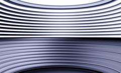 Horizontal purple curved panels illustration background Stock Illustration