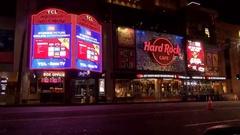 Hard rock cafe la establishing shot 4k Stock Footage