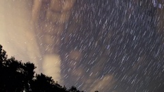 4K. Starry night over the Black Sea. Pitsunda, Abkhazia, Ultra HD. 4096x2304 Stock Footage