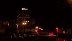 Church of Scientology Establishing Shot Night 4k Stock Footage