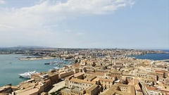 Spectacular Old Italian City near Sea Stock Footage