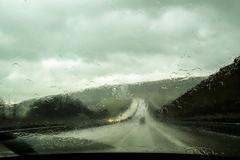 Car front window view during rain Kuvituskuvat