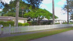 Residential Florida homes stock video Stock Footage