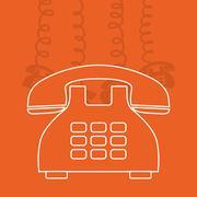 Telephone line communication Stock Illustration